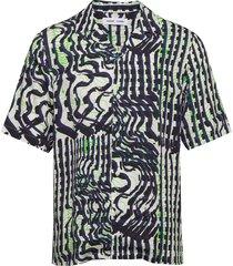 oscar ax shirt aop 10527 overhemd met korte mouwen multi/patroon samsøe samsøe