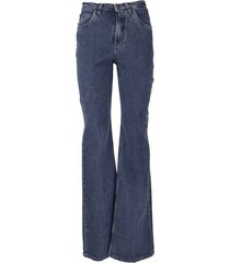 hight-rise flared jeans