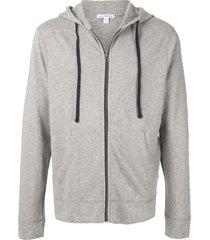 james perse vintage fleece hoodie - grey