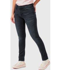 jeans lee elly negro - calce ajustado