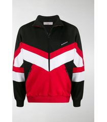 givenchy colour-block zip-up sweatshirt