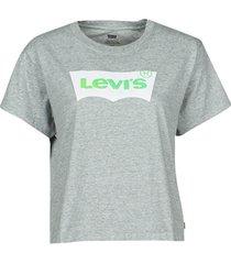 t-shirt korte mouw levis bw neon pop smokestack heather grey