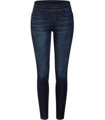 donkere shift jeans met elastische taille