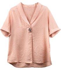 blusa de mujer palo de rosa plus size cosmos