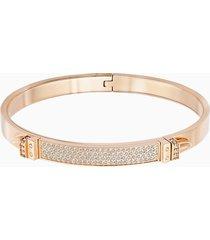 bracciale rigido distinct, bianco, placcato oro rosa