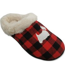 charter club women's buffalo check scottie slippers, created for macy's