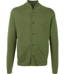 shanghai tang toggle button front cardigan - green