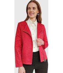 chaqueta ash doble cierre rojo - calce ajustado