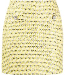 alessandra rich tweed mini skirt - yellow