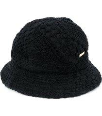 marine serre check pattern bucket hat - black