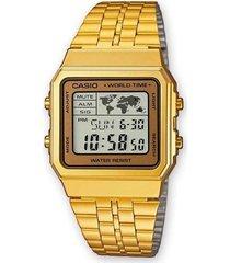 reloj casio a-500wga-9 dorado hombre