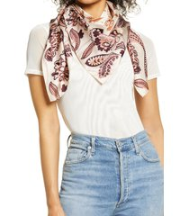 nordstrom print silk square scarf in tan finlay paisley at nordstrom