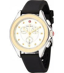 cape stainless steel honey topaz silicone strap watch