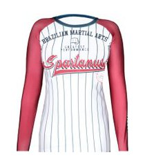 rash guard feminina baseball spartanus fightwear