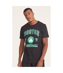 camiseta nba estampada college boston celtics preta