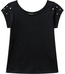 blusa amora manga curta preto