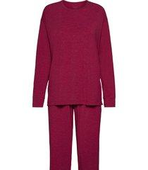 pyjama long pyjamas röd schiesser