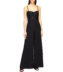 missoni jumpsuits missoni jumpsuit with suspenders and wide trousers