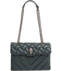 kurt geiger london large kensington leather shoulder bag - blue