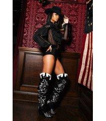 akira cape robbin rockstar western over the knee boots