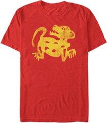 fifth sun men's nickelodeon legends of the hidden temple distressed jaguar short sleeve t-shirt