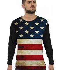camiseta lucinoze camisetas manga longa america preto
