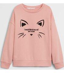 bedrukt sweatshirt met getextureerde details