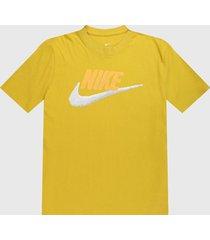 camiseta amarillo-negro nike