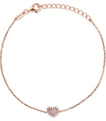 as29 18kt rose gold miami heart diamond and mother of pearl bracelet