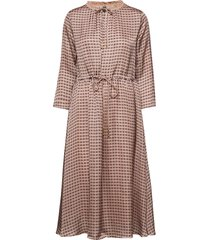 becca retro dress knälång klänning brun mos mosh