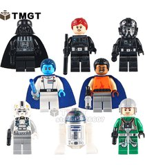 8pc darth vader tie fighter pilot grand admiral thrawn minifigures building toys