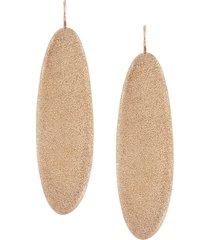 brunello cucinelli distressed-effect drop earrings - gold