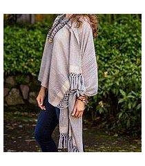 cotton shawl, 'natural combination' (guatemala)