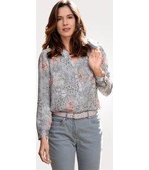 blouse mona grijs::roze::antraciet