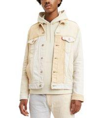 levi's men's cliffhanger two-tone trucker jacket