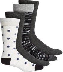 alfani men's 4-pk. dress socks, created for macy's