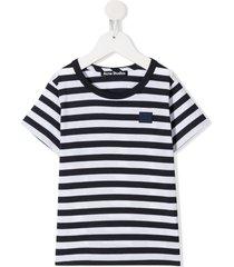 acne studios mini nash face motif t-shirt - blue
