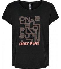 t-shirt korte mouw only play camiseta manga corta mujer only 15217750