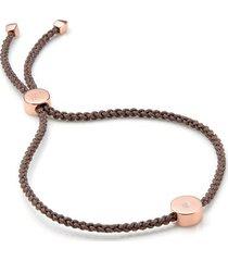 rose gold linear solo friendship diamond bracelet diamond