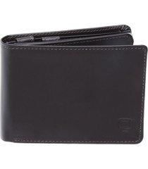 carteira em couro completa marrom porta cheque. plástico documentos e porta moeda marrom café
