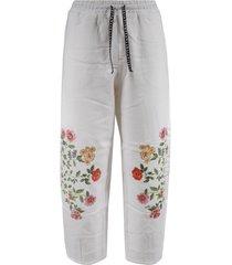 vivetta floral print drawstring trousers