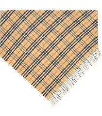 burberry vintage check cashmere bandana scarf
