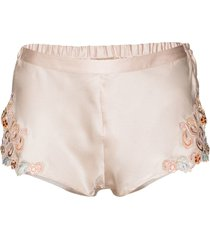 la perla maison silk shorts - pink