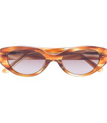dmy by dmy quin havana oval sunglasses - neutrals