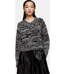 *v-neck crop sweater by topshop boutique - multi