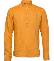 luxe linen popover shirt overhemd casual oranje eton