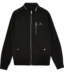 river island mens big & tall mcmlx black nylon racer jacket