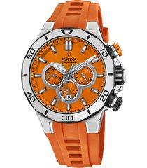 reloj chrono sport naranja festina