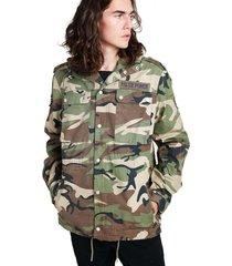 chaqueta militar con gorro sioux