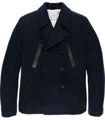 button jacket hidden twill